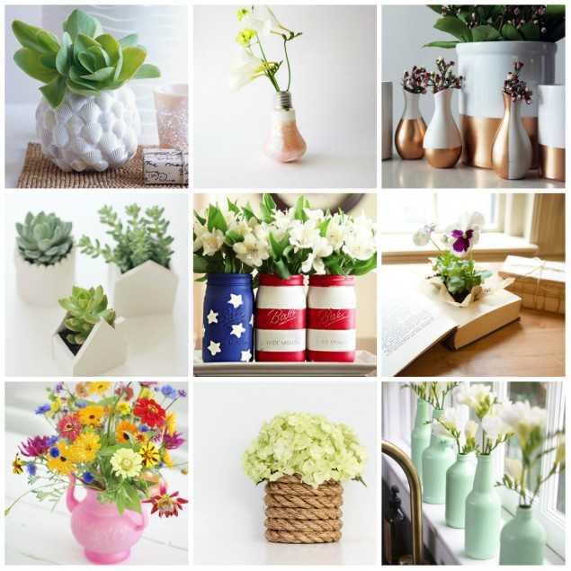 Ваза своими руками: мастер-класс изготовления оригинальных ваз своими руками (видео инструкция + 75 фото)