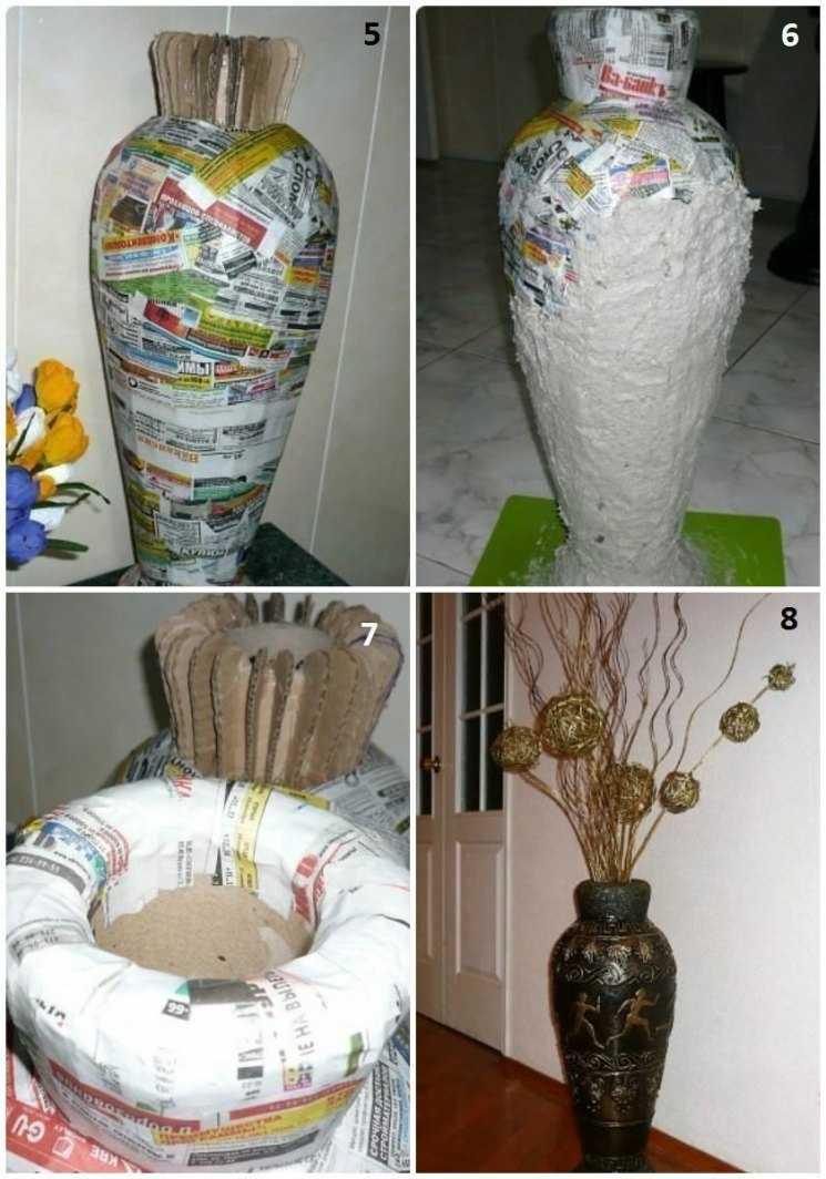 Напольная ваза своими руками: секреты, техники, неожиданные решения. выбор размера и формы, способы изготовления, тонкости декорирования готового изделия