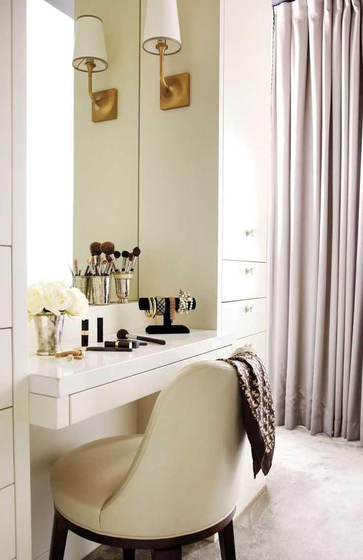 Туалетный столик с зеркалом и подсветкой: фото интересных идей