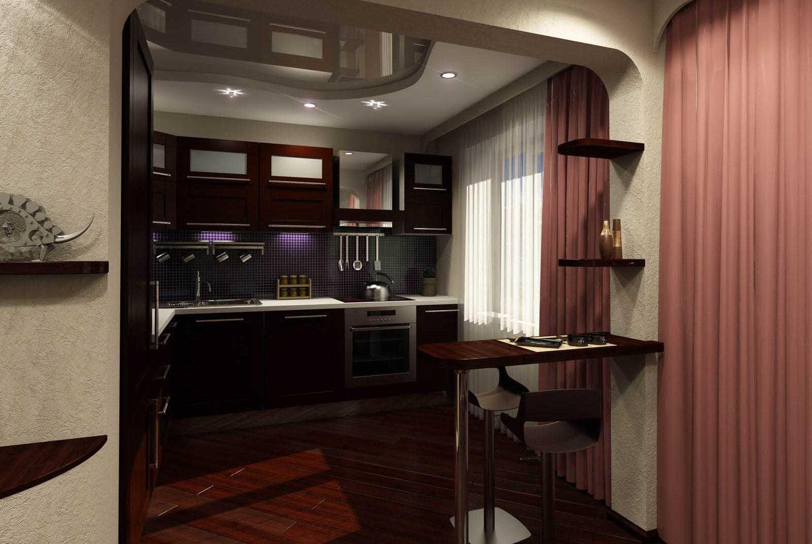 Дизайн кухни, совмещённой с прихожей