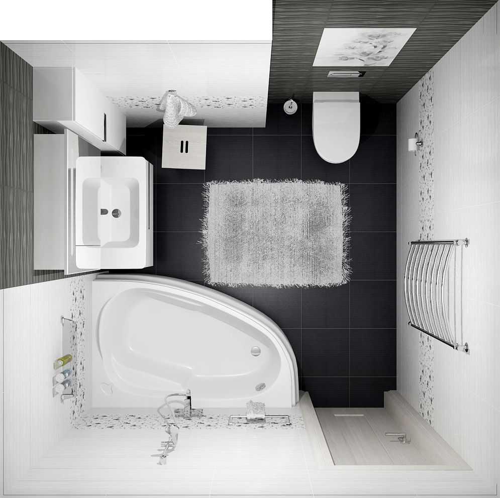 Интерьер совмещенной ванной комнаты с туалетом - 80 лучших фото!