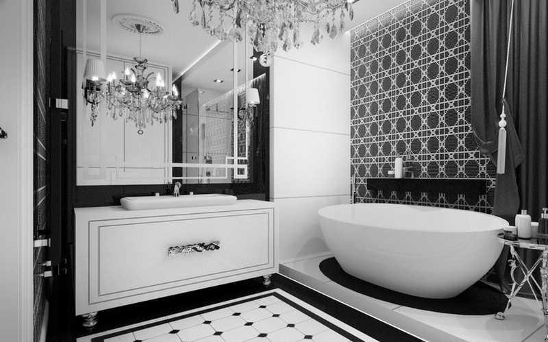 Черно-белая плитка для ванной: плюсы и минусы, выбор и дизайн