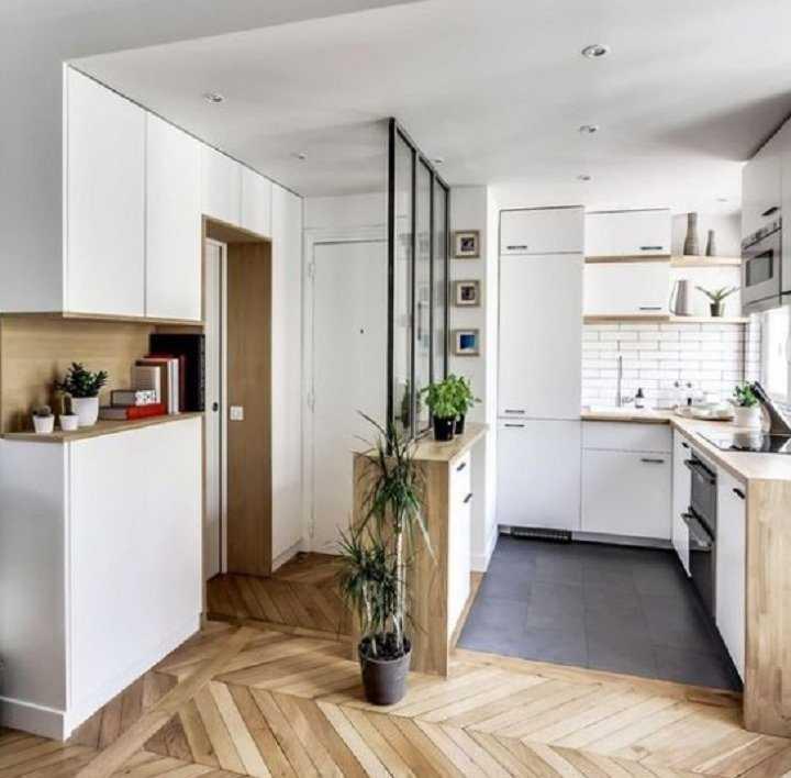 Кухня, совмещённая с прихожей: 14 дизайн-советов, справка по перепланировке, 40 фото