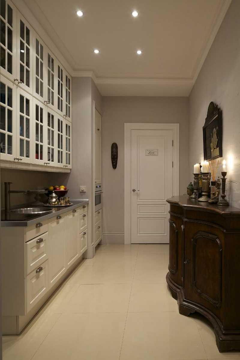 Кухня в коридоре в однокомнатной квартире: объединенный дизайн и согласование