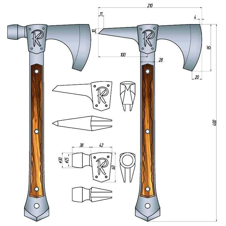 Как сделать топор - полный процесс создания инструмента (50 фото)