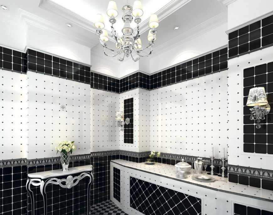 Черно-белая ванная: секреты и хитрости интерьера, выбор правильных аксессуаров