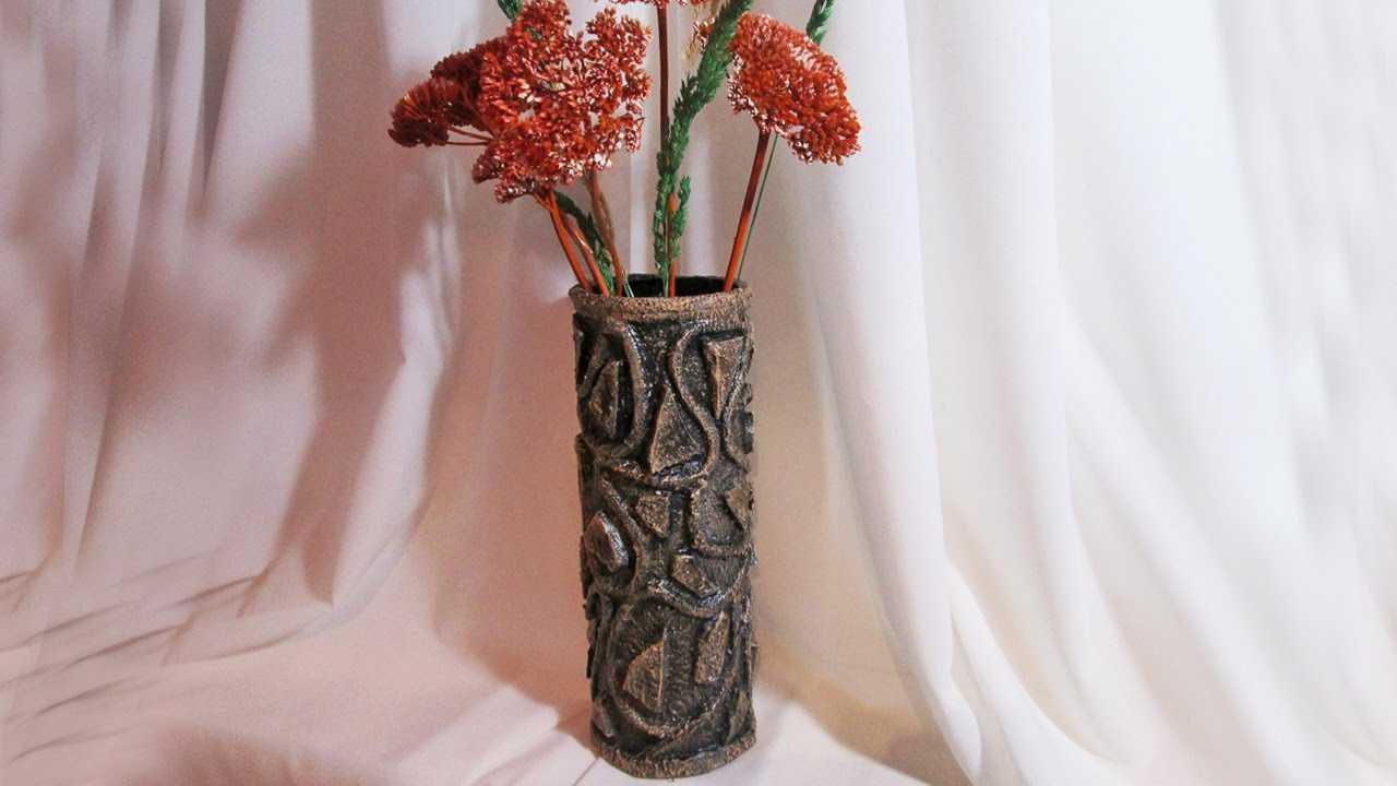 Декор вазы: разные техники украшения и оформления своими руками (115 фото и видео)