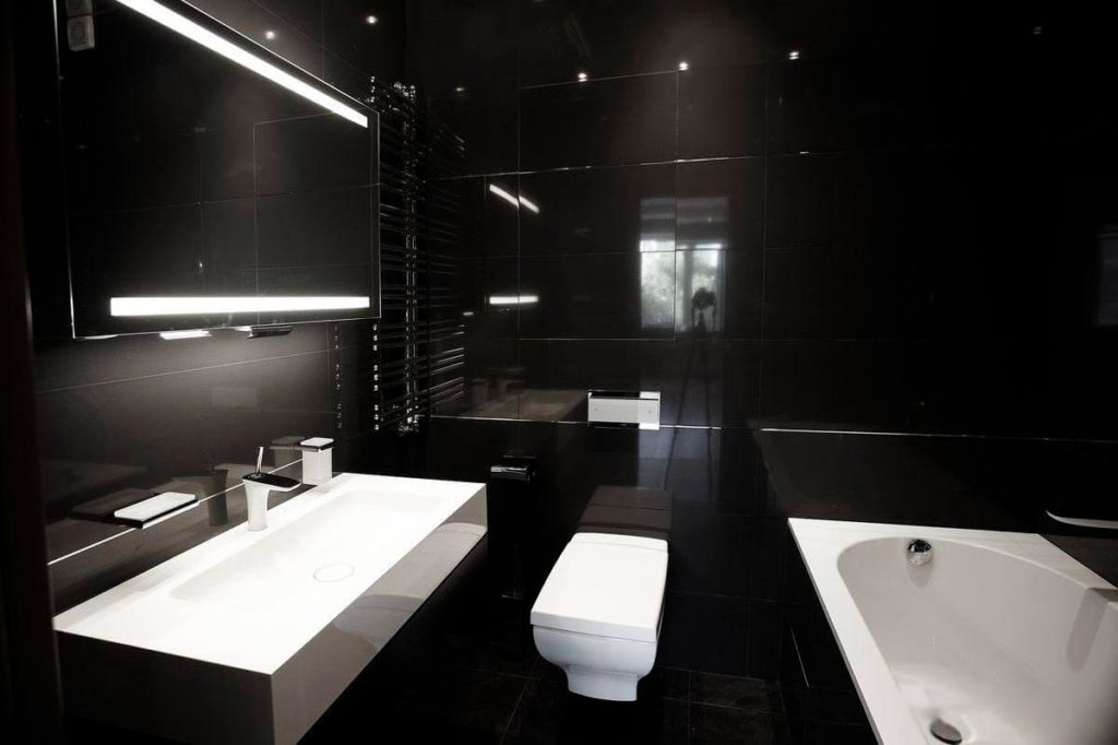 Ванная комната в сером цвете: 71 идея на фото дизайна интерьера от ivd.ru