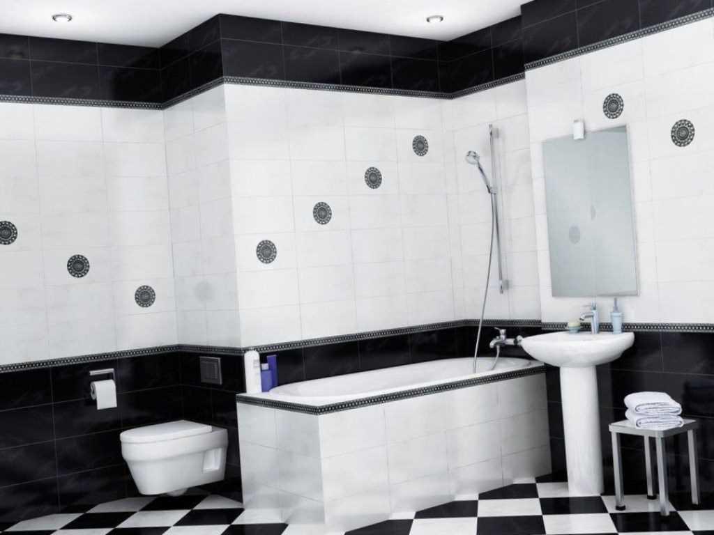 Ванная комната черно-белая: особенности использования цветов