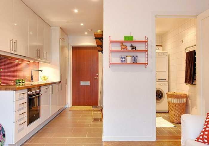Перенос кухни в коридор и объединение с прихожей
