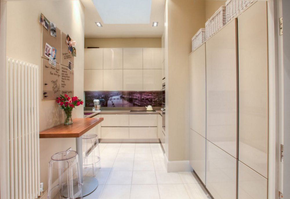 Кухня в коридоре: за и против, 34 фото, идеи дизайна