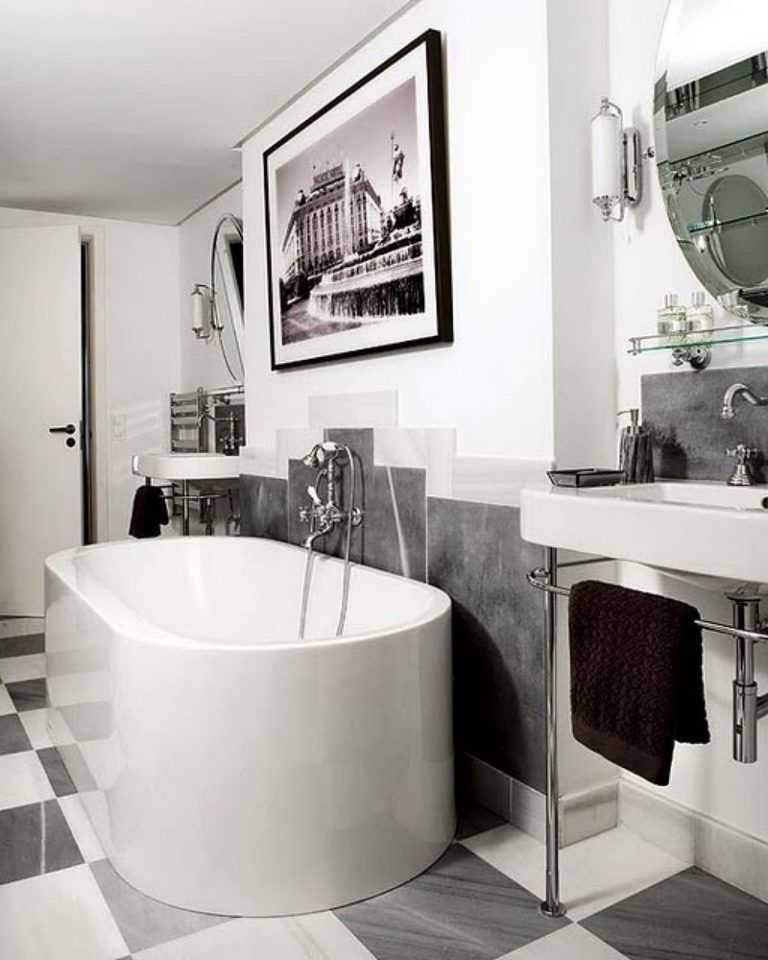Черная ванная комната - фото оригинальных дизайнерских идей ванной