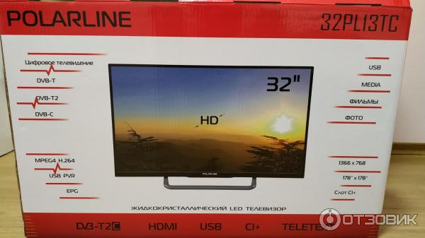 Телевизор polarline 40pl11tc-sm