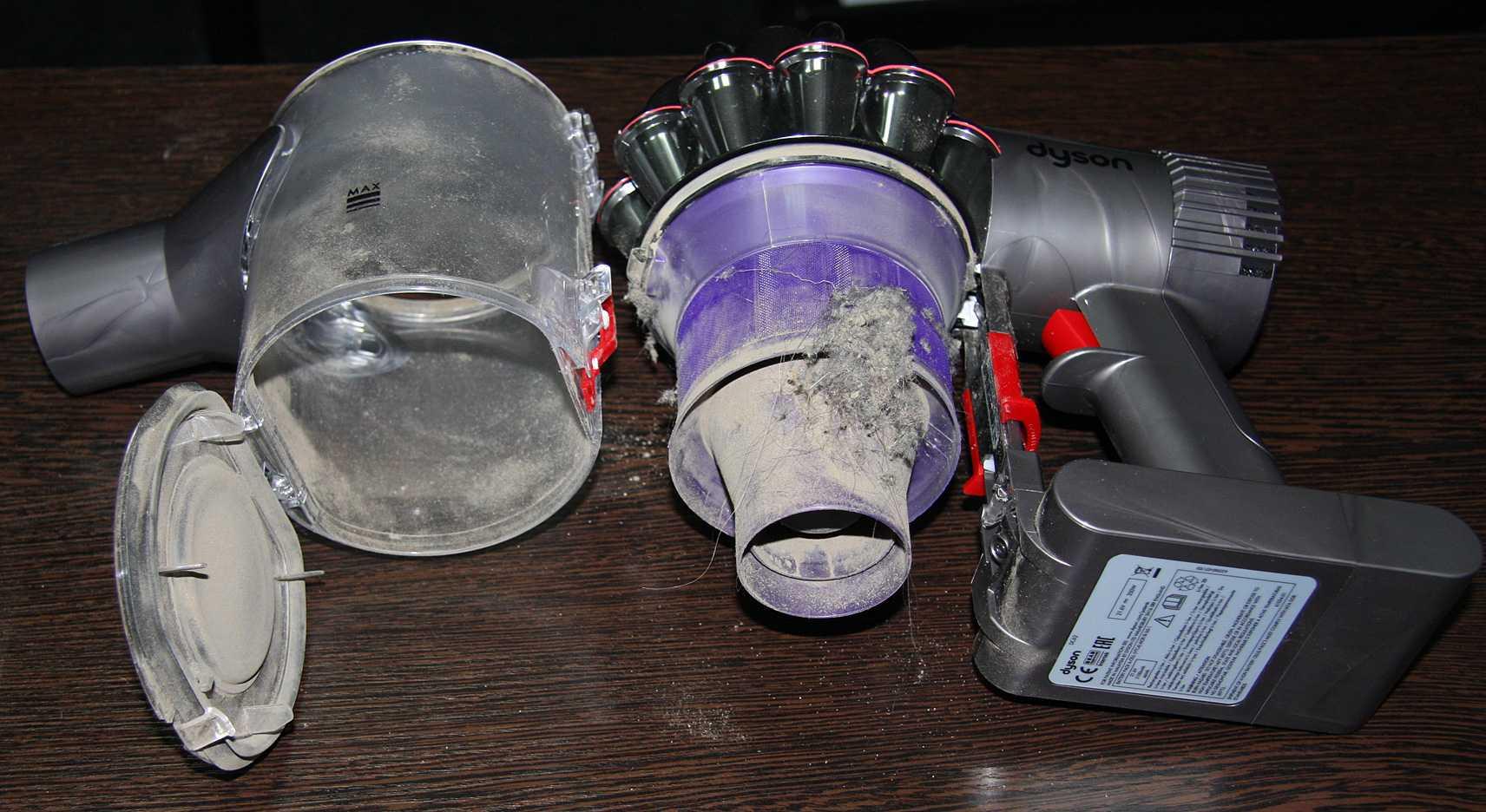 чистка фильтров dyson