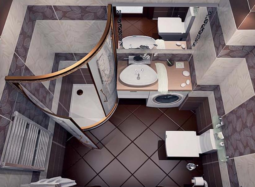 Каким должен быть интерьер ванной комнаты, совмещенной с туалетом