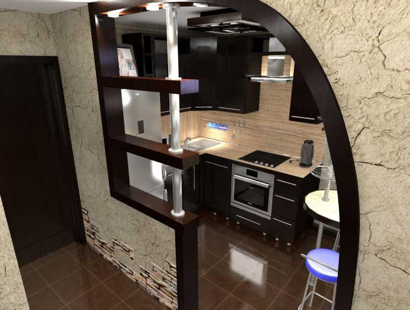 Кухня в коридоре: правила переноса, согласование и 9 фото в интерьере