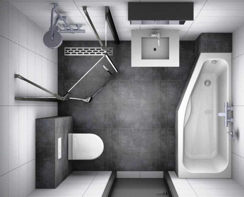 Интерьер ванной комнаты совмещенной с туалетом - идеи дизайна